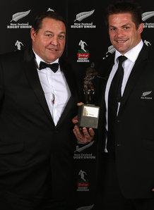 All Blacks coach Steve Hansen and skipper Richie McCaw