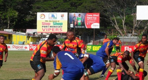 PNG will host the Oceania Cup tournament that will see the champion play Fiji for a place in the 2015 Rugby World Cup . Photo: IRB