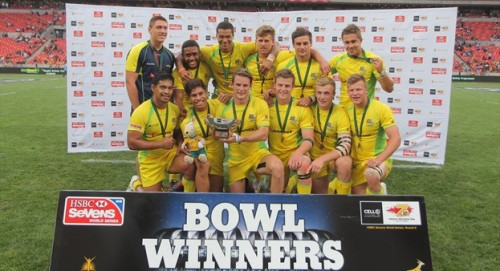 Australia won the Bowl in South Africa with seven of that squad travelling to Fiji for the Uprising Sevens tourament. Photo: IRB