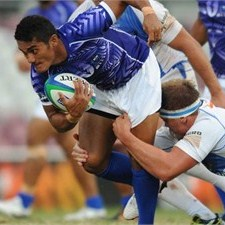 Samoa A snatched a last minute win over the Blues Development XV. Photo: IRB