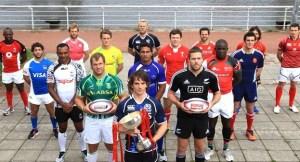 The 16 skippers gear up for the HSBC Sevens World Series in Glasgow kicking off tomorrow. Photo: IRB
