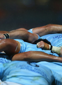Perpignan scrum. Photo: Planet Rugby