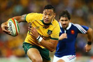 Israel Folau underlined his value with another standout display against France. Photo: Getty Images
