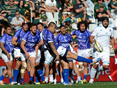 Flyhalf Tusi Pisi kicked five penalties for Manu Samoa. Photo: Planet Rugby