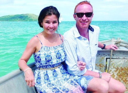 Ben Ryan and wife Natalie. Photo: The Rugby Paper