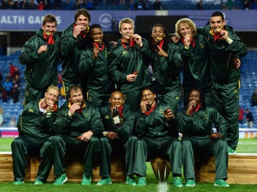 For real . . . South Africa wins gold in Glasgow after defeating New Zealand 17-12 in the final. Photo: Skysports