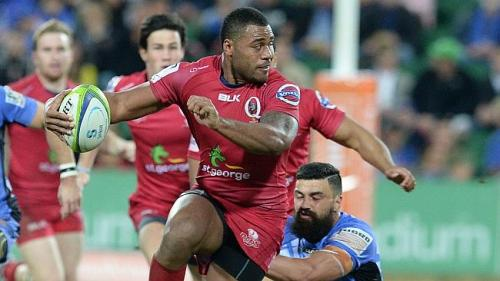 Samu Kerevi attacks for the Reds. Photo: Skysports