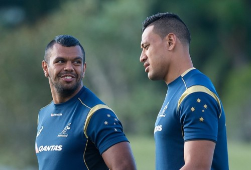 Kurtley Beale and Israel Folau are making an impact in rugby union. Photo: AAP