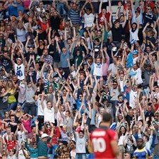 171,000 fans attended the Rugby Sevens event at Ibrox Stadium during the 2014 Commonwealth Games in Glasgow
