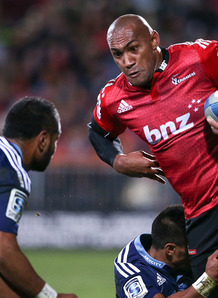 Winger Nemani Nadolo attacks for the Crusaders against Auckland. Photo: Skysports