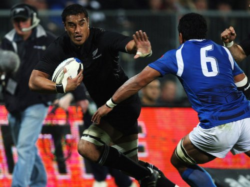 All Blacks play Samoa in 2008. Photo: Sky Sports