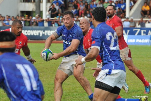Samoa plays against Tonga in a PNC match last month in Apia. Photo: Moller Images