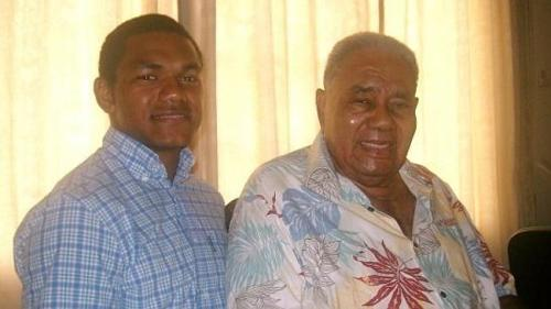 Henry Speight stands next to grandfather, the late Ratu Josefa Iloilo.