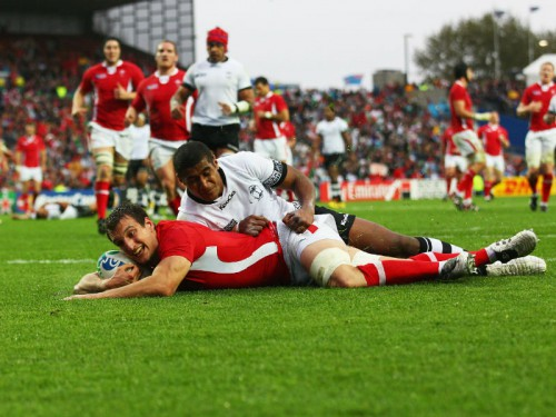 Wales play Fiji in an earlier Test. Photo: Skysports