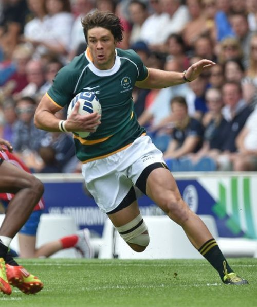 South Africa's Warren Whiteley attacks in the Commonwealth Games in Glasgow. Photo: Skysports