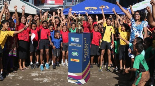 The Webb-Ellis Cup's next stop is Madagascar. Photo: IRB