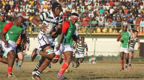 Zimbabwe plays Kenya in the CAR tournament in Madagascar. Photo: IRB