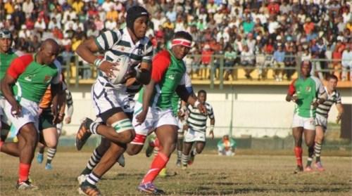 Zimbabwe plays Kenya in the CAR tournament in Madagascar. Photo: IRB