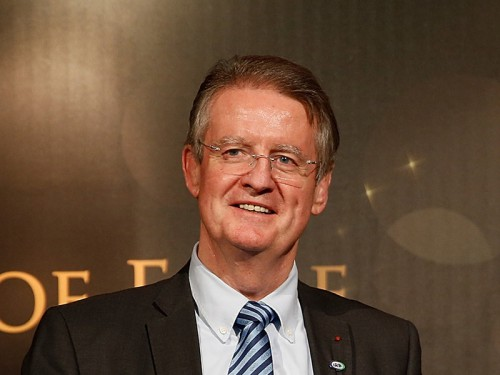 Bernard Lapasset is delighted to intergrate the two Halls of Fames. Photo: Skysports