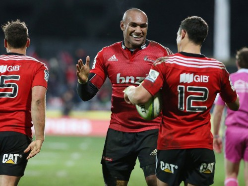 Crusaders winger Nemani Nadolo will avoid friends Sekope Kepu and Wycliff Palu. Photo: Skysports