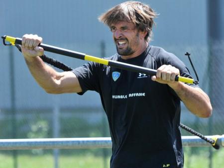 Clermont lock Julien Pierre prepares for their match on Saturday. Photo: