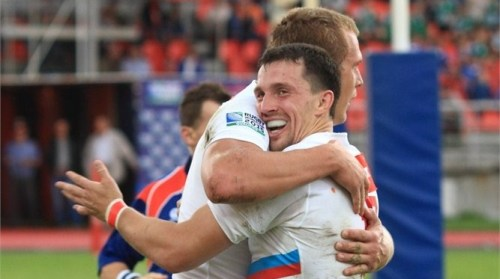 Vasily Artemyev had a hand in a couple of Russia's tries in their win over Zimbabwe - Photo: Masha Anderson, IRB