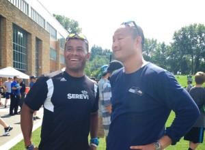 Waisale Serevi with Seahawks coaching staff Micael Seto. Photo: Flckr