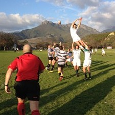 Referee Chris Linwood from UAE during a match officials' session at TOP in Stellenbosch: Photo: IRB