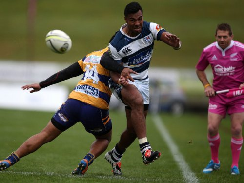 Auckland winger Lolagi Visinia against Bay of Plenty. Photo: Skysports