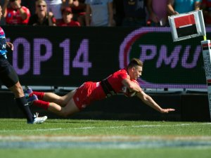 Toulon winger James O'Connor touches down against Montpellier. Photo: Skysports