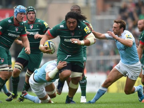 Tigers prop Logo Mulipola charges against Newcastle. Photo: Skysports