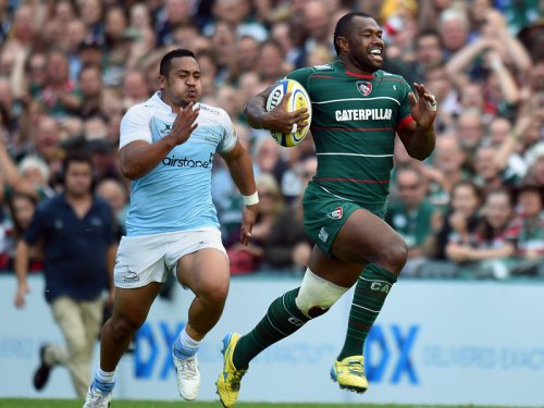 Goneva goes in for one of his tries against the Falcons. Photo: Skysports