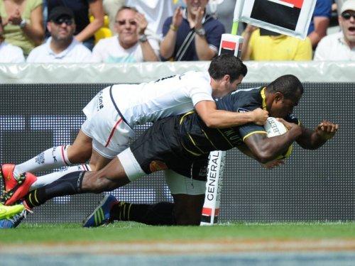 Sireli Bobo scores La Rochelle's first try. Photo: Skysports