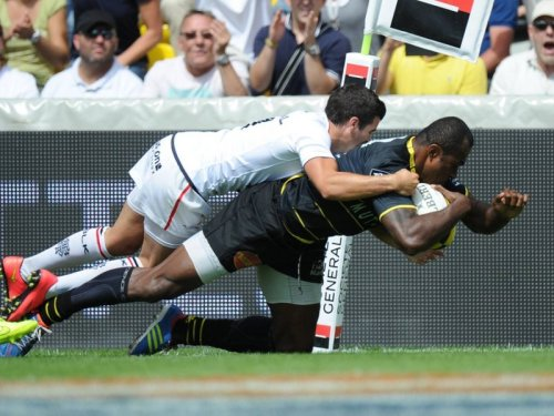 Sireli Bobo scores La Rochelle's first try. Photo: Skysports