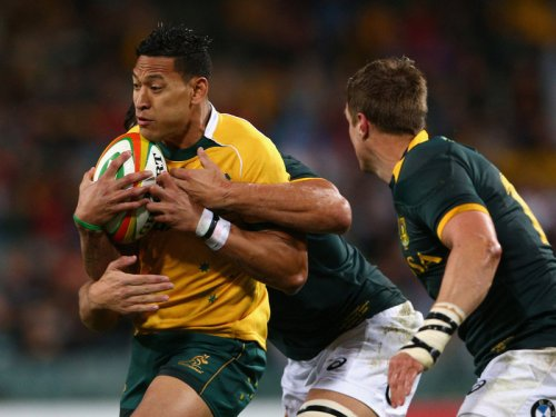Wallabies fullback Israel Folau scored early. Photo: Skysports