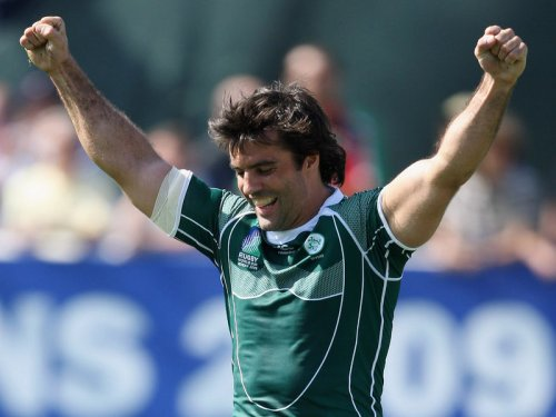 Brian Carney celebrates a try in Ireland's last 7s appearance in 2009. Photo: Planet Rugby