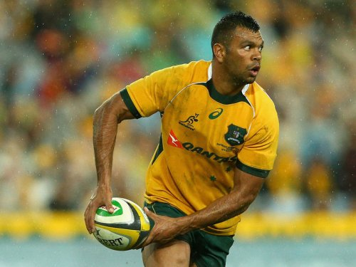 Kurtley Beale ready to pass in an earlier Rugby Championship match. Photo: Skysports