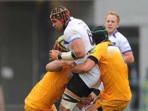 Netani Talei holds up play for the Dragons. Photo: Planet Rugby