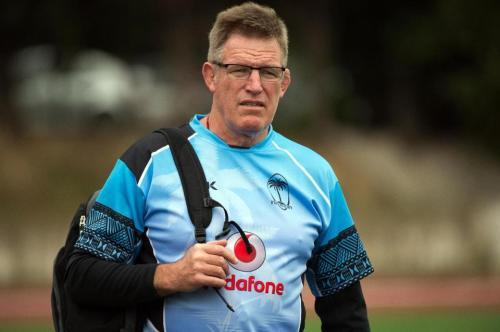 John McKee . . . rounding up skills for Fijian players. Photo: AFP