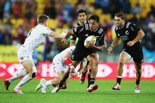 One of the new stars of the New Zealand sevens side. Rieko Ioane. Photo: IRB