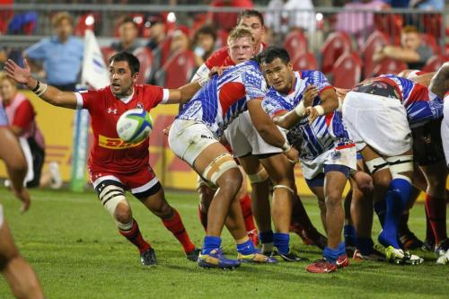 Manu Samoa launch another attack against Canada at the BMO Field in Toronto. Photo: World ugby
