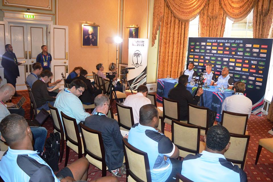 Coach John McKee names the Fiji team to take on England in the RWC opener at the Oatlands park Hotel in London. Photo: Fiji Rugby