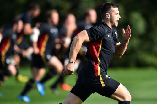 Gareth Davies does a solid workout. Photo: WalesOnline