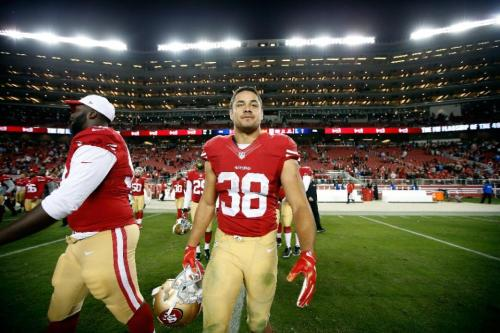 Jarryd Hayne of the San Francisco 49ers walks off the field after their NFL pre-season game against the San Diego Chargers at Levi's Stadium last Thursdayin Santa Clara, California (AFP Photo/Ezra Shaw)