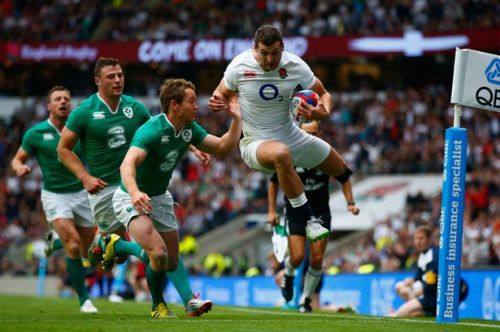 Finally found his feet in the English side . . . Jonny May. Photo: Reuters