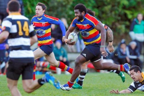 Taniela Koroi attacks for his Tawa club in the Wellington Club competition. Photo: Stuff.co.nz