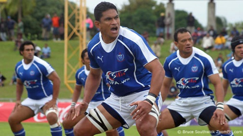 Samoa doing the siva tau in an international against Fiji. Photo: Zoomfiji