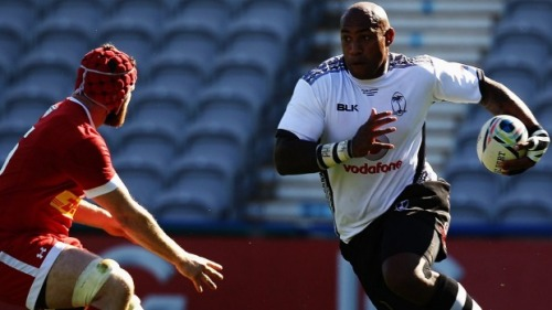 Nemani Nadolo attacks against Canada in Fiji's  last warm up match on Sunday. Photo: Getty Images