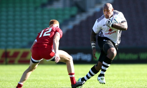 Fijian wing Nemani Nadolo plays wing against Canada at the Stoop on Sunday. Photo: Getty Images
