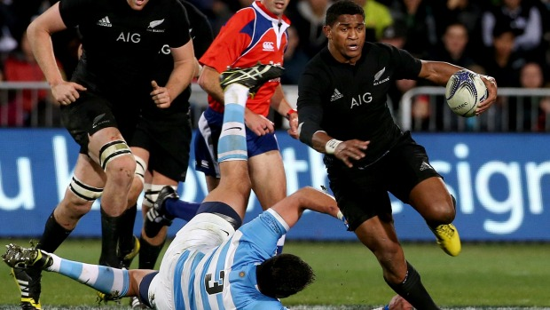 Waisake Naholo gets past the Argentinian defence in the Rugby Championship. Photo: Fairfax NZ